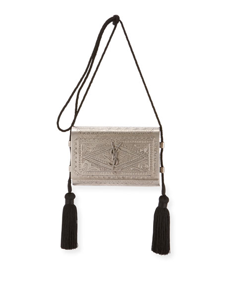 Small Kate Etched Crossbody Bag by Saint Laurent