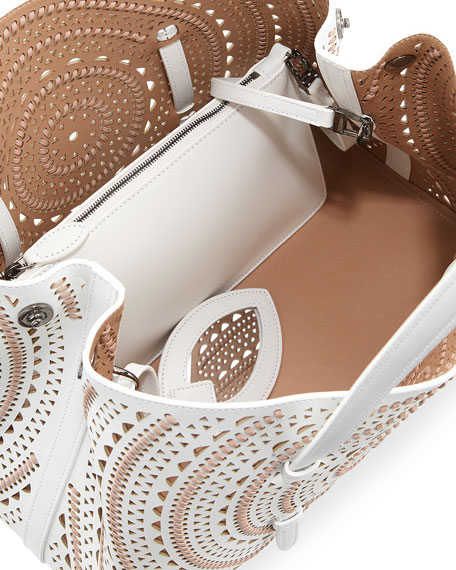 Laser-Cut Leather Tote Bag