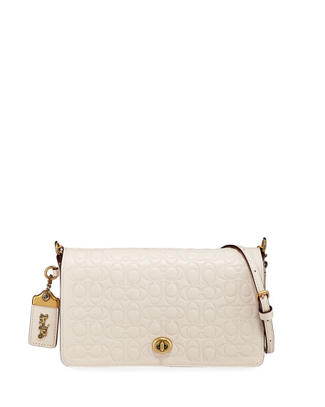 Coach 1941 Signature Leather Dinky Crossbody Bag