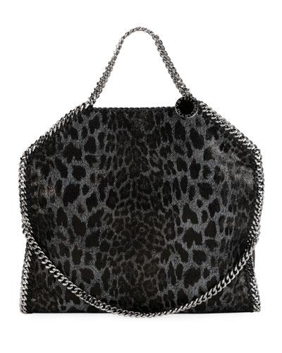 5d9dd293c865 Stella McCartney Falabella 3-Chain Leopard Tote Bag