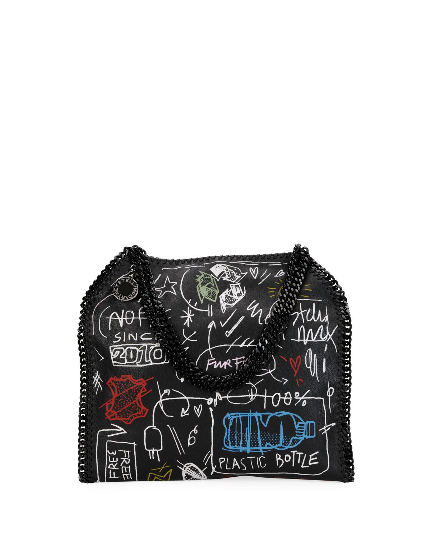 2f3fe7d6366 Stella McCartney Small Graffiti Falabella Tote Bag   Neiman Marcus