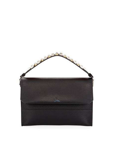 Christian Louboutin Loubiblues Paris Calf Clutch Bag