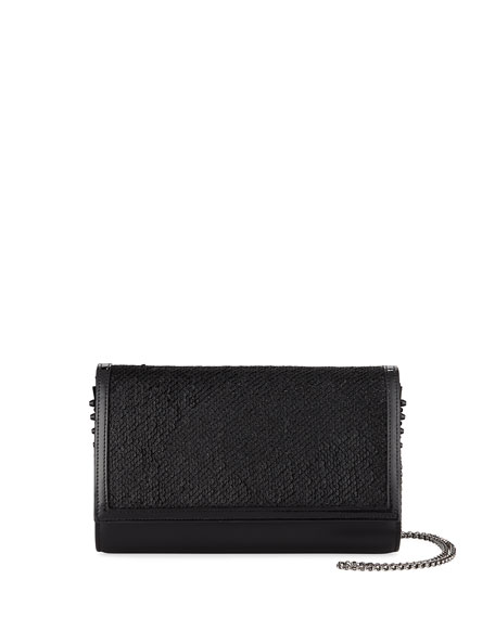 Christian Louboutin Paloma Fold-Over Paillette Clutch Bag