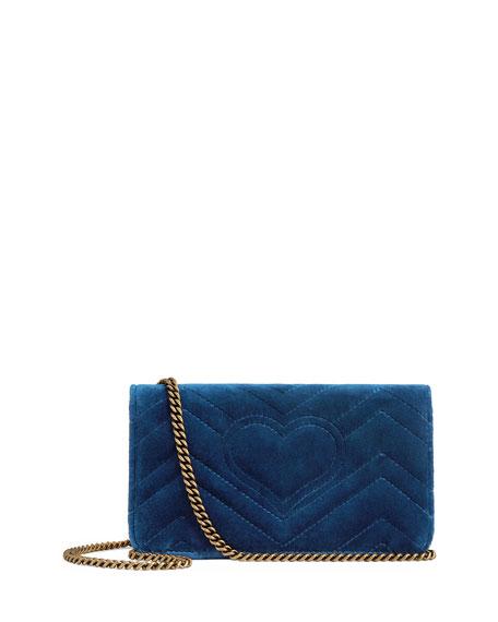 GG Marmont Velvet Crossbody Bag
