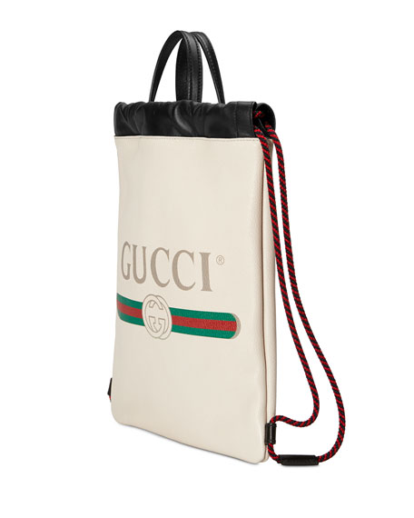 Gucci-Print Small Drawstring Backpack