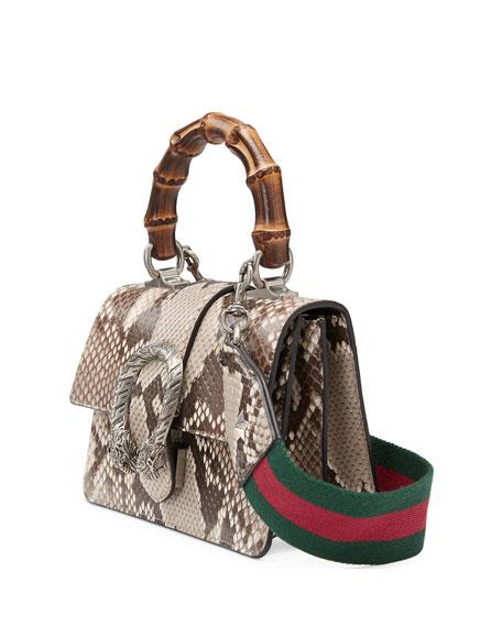 Dionysus Mini Python Bamboo-Handle Bag