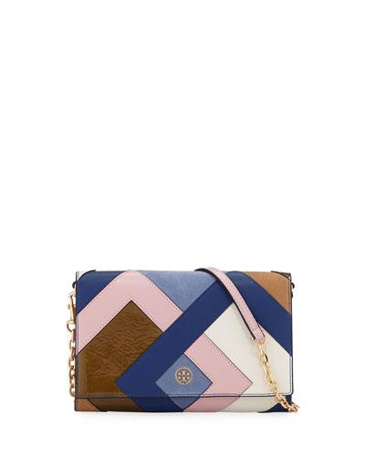8bf045e2740d Tory Burch Robinson Pieced Chain Wallet  Shoulder Bag