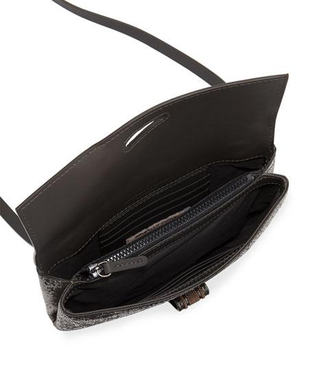 Broken Glass-Effect Wallet On A Chain
