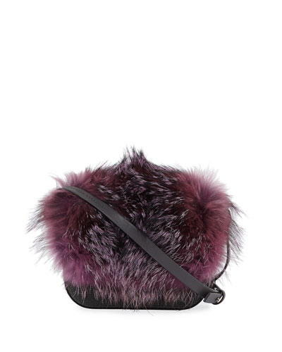 Fox Fur and Monili Mini City Bag