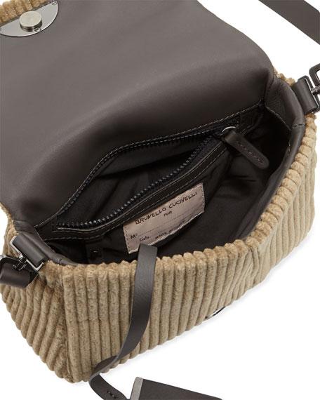 Jumbo Corduroy City Crossbody Messenger Bag