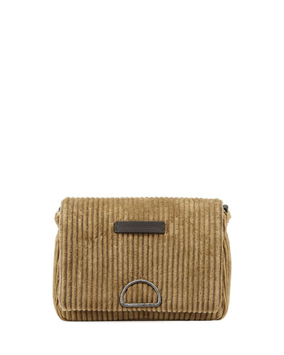 Jumbo Corduroy City Crossbody Messenger Bag