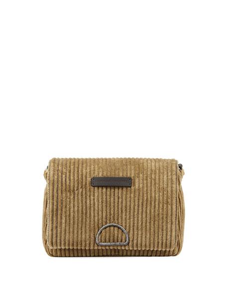 Brunello Cucinelli Jumbo Corduroy City Crossbody Messenger Bag