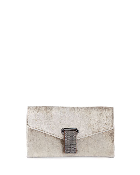 Brunello Cucinelli City Suede Crossbody Bag
