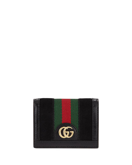 Gucci Ophidia Suede Flap Card Case