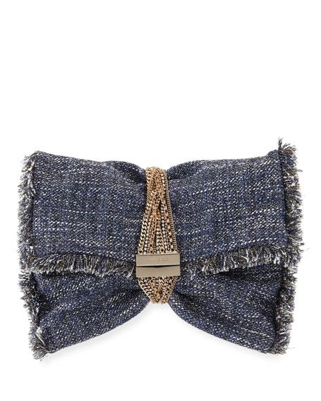 Jimmy Choo Chandram Metallic Tweed Clutch Bag