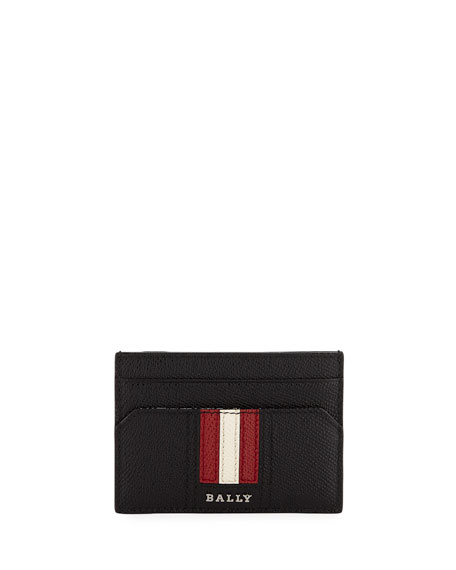 Bally Men's Leather Card Case with Money Clip