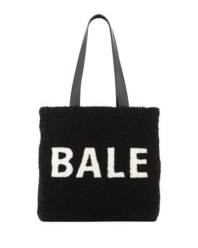 Shearling Logo Tote Bag