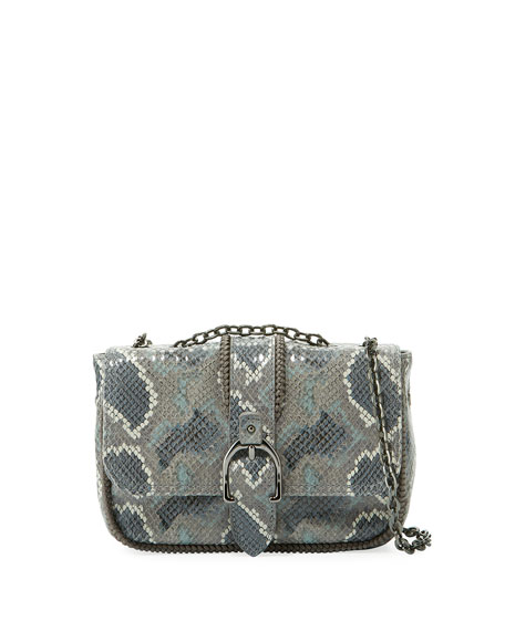 Longchamp Amazon Python Mini Crossbody Bag, Gray