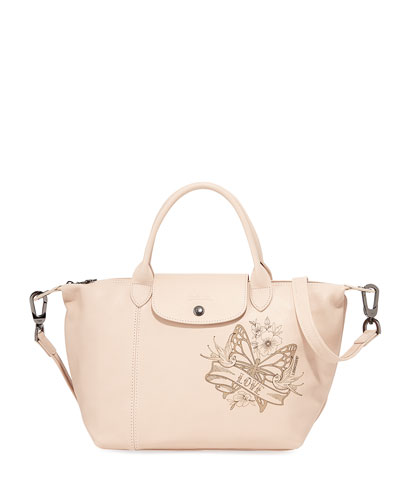 0d588792af26 Longchamp Le Pliage Cuir Tattoo Small Handbag with Strap