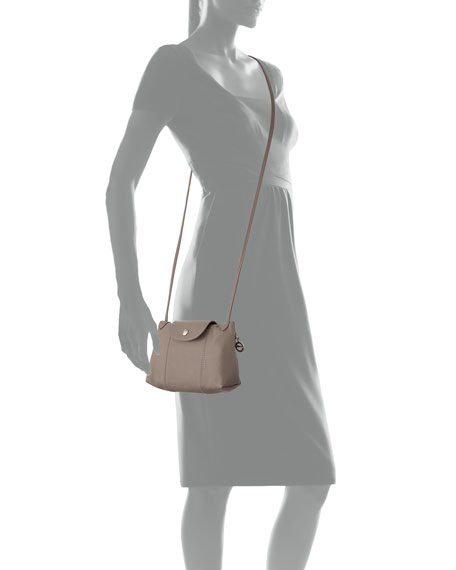 Le Pliage Cuir Small Crossbody Bag