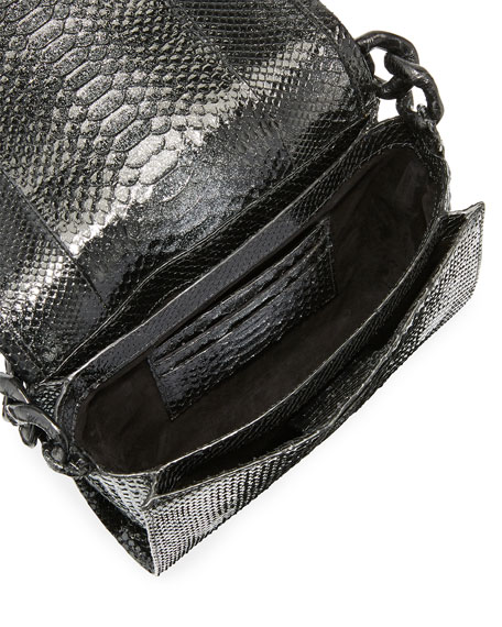 Carrie Crocodile and Python Clutch Bag