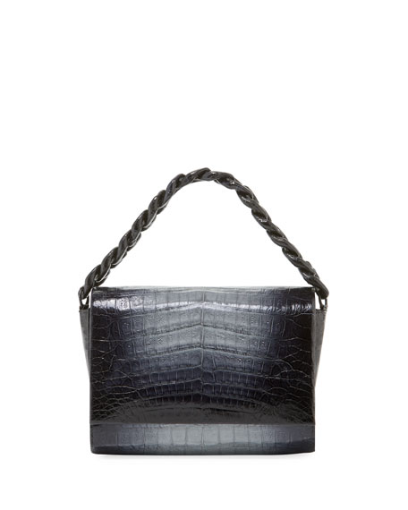 Carrie Ombre Crocodile Clutch Bag