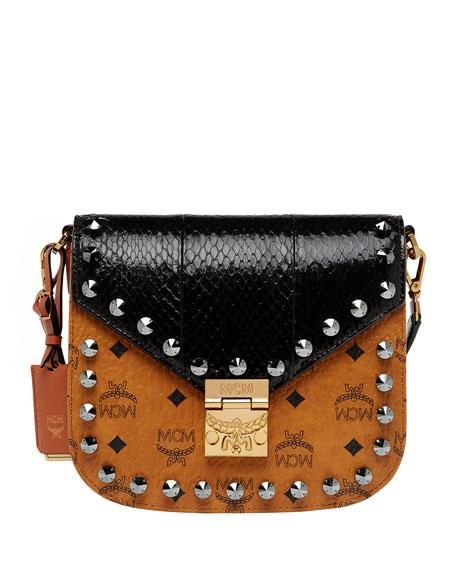 MCM Patricia Small Exotic Crystal Visetos Shoulder Bag 1742b7dcc22f6