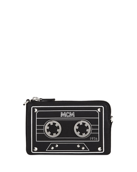 MCM Mini Cassette Tape Clutch Bag