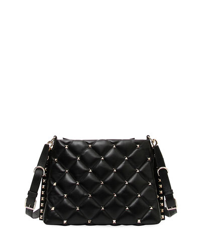Candystud Quilted Leather Shoulder Bag