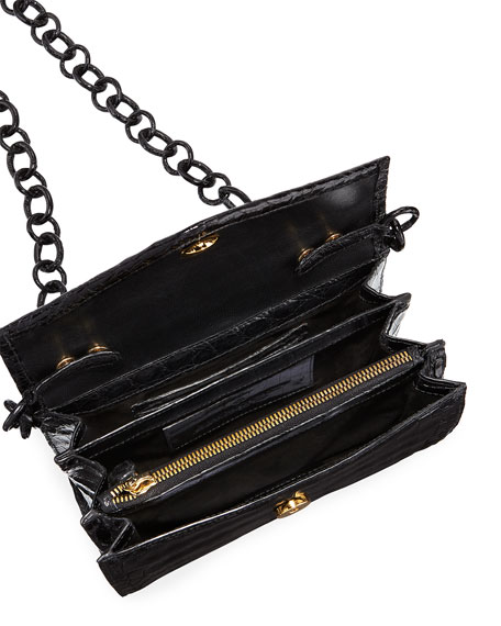 Amour Small Crocodile Crossbody Bag