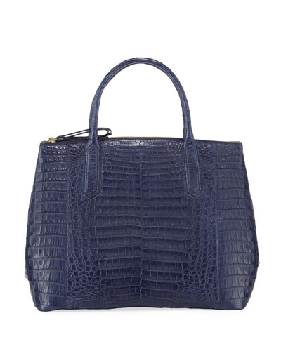 Nix Medium Crocodile Zip Tote Bag
