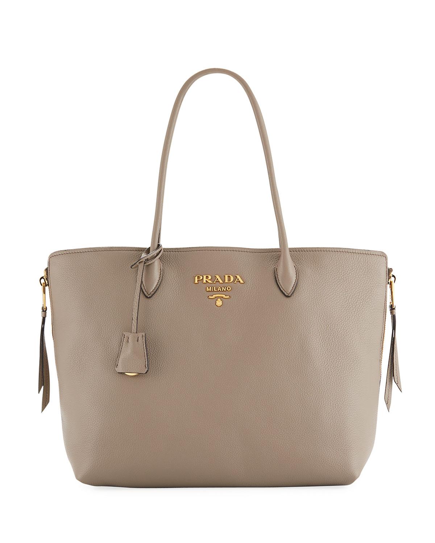 Prada Daino Top-Handle Shopper Tote Bag  239143b4e