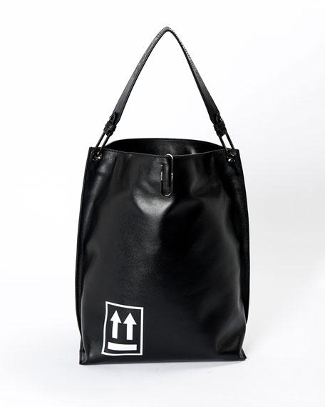 Off-White Soft Arrow Satchel Bag