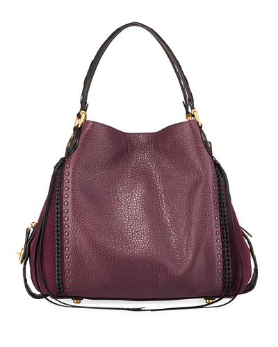 Edie 42 Rivets and Whipstitch Hobo Bag