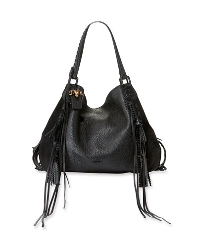 Edie 42 Leather Shoulder Bag