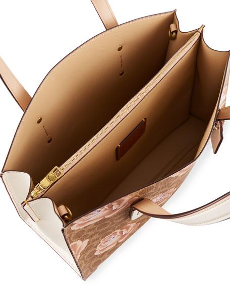 Charlie Coated Signature Canvas Carryall Shoulder Bag