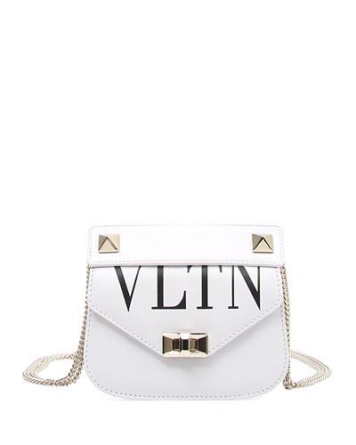 VLTN Small Smooth Leather Chain Shoulder Bag