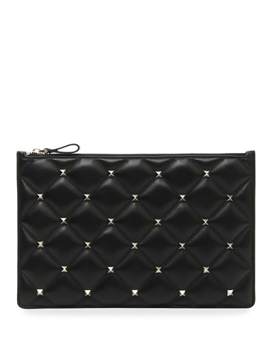 Candystud Large Flat Pouch Clutch Bag