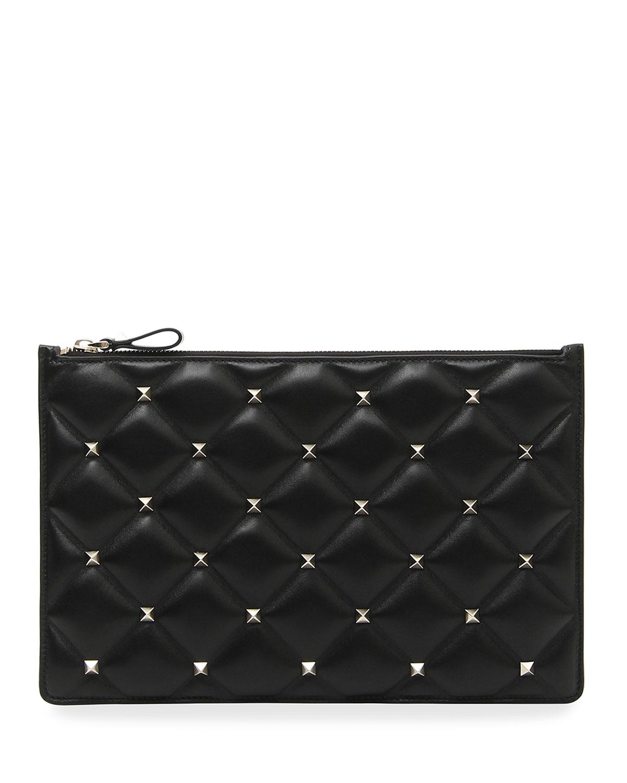 43f5338dab Valentino Garavani Candystud Large Flat Pouch Clutch Bag