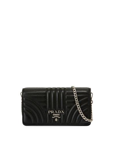 1df3098b263145 Prada Diagramme Mini Impunture Quilted Leather Crossbody Wallet Bag ...