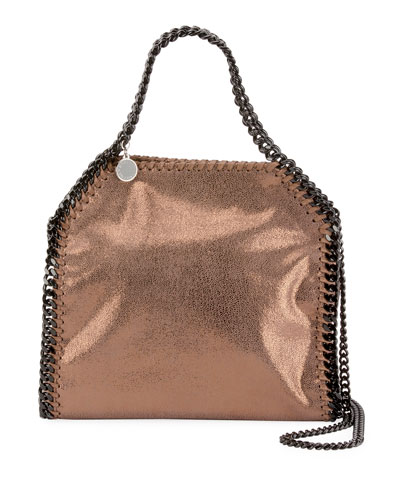 Falabella Mini Shiny Dotted Chamois Tote Bag