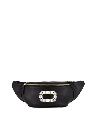 Embellished Leather Fanny Pack