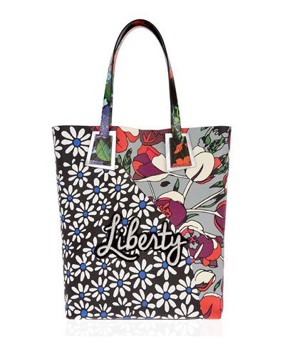 Liberty London Rq Daisy Tulip Merton Tote Bag