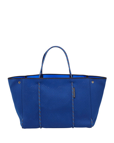 Escape Perforated Tote Bag  Navy