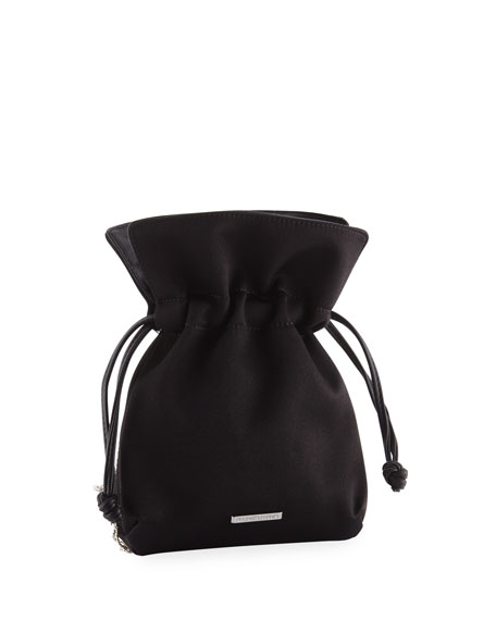 Trilly Nano Disco Beaded Satin Clutch Bag