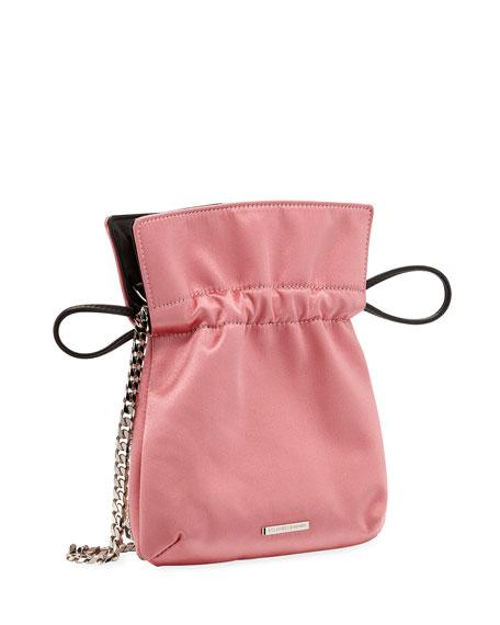 Trilly Nano Disco Stripe Satin Clutch Bag