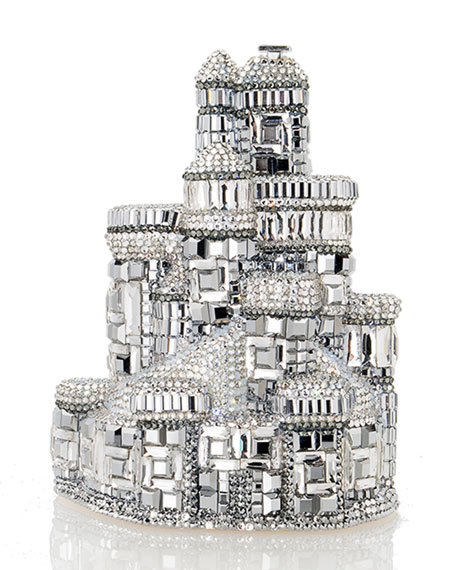 Judith Leiber Couture Schloss Castle Crystal Clutch Bag