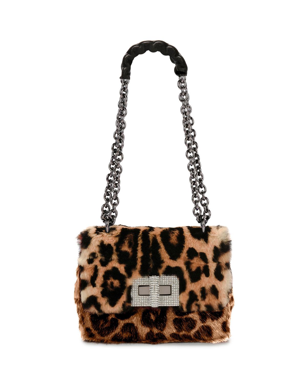 fad44f7062 TOM FORD Natalia Large Soft Leopard Fur Shoulder Bag