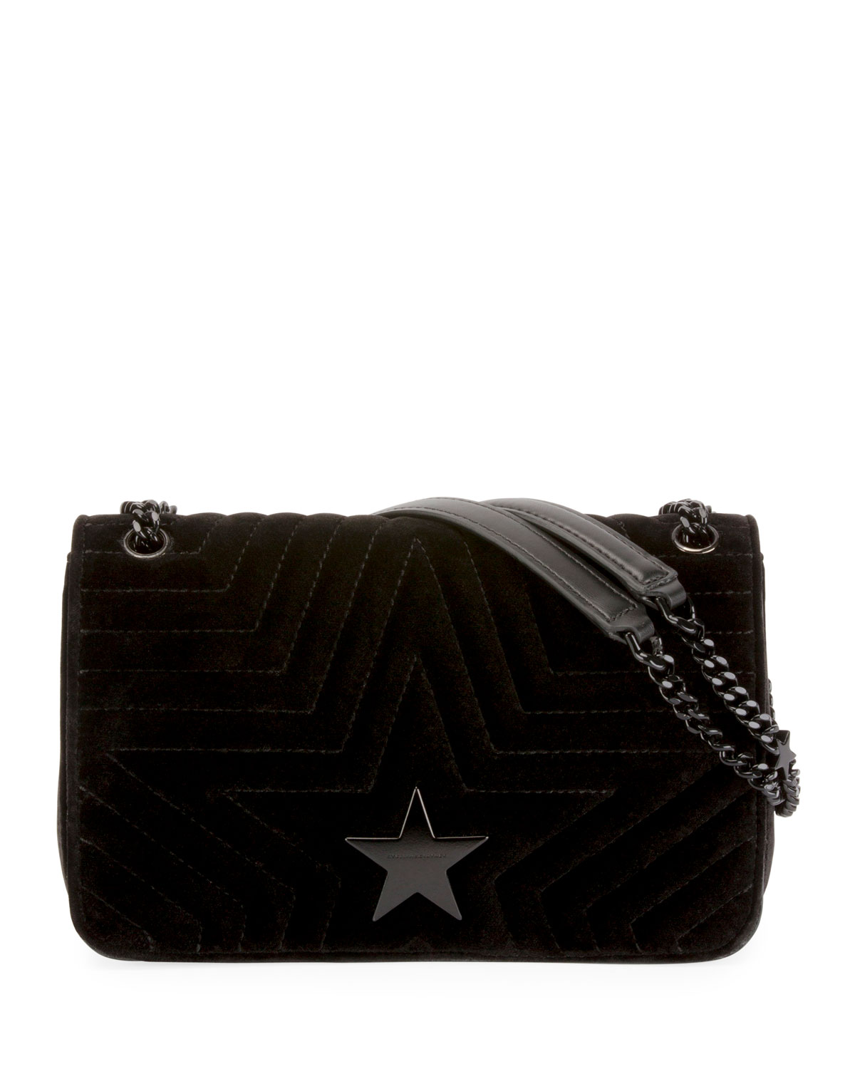 90fff2c675f3 Stella McCartney Stella Star Small Velvet Shoulder Bag