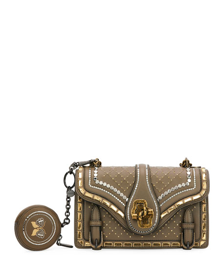 City Knot Embellished Shoulder Bag with Catena Mirror Detail